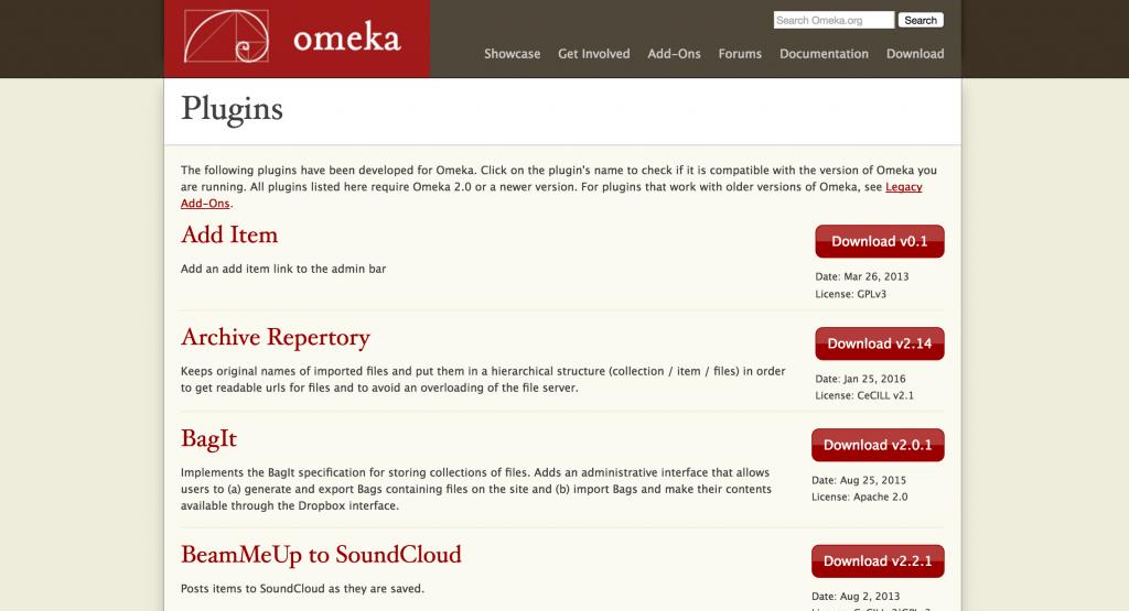 omeka-plugins